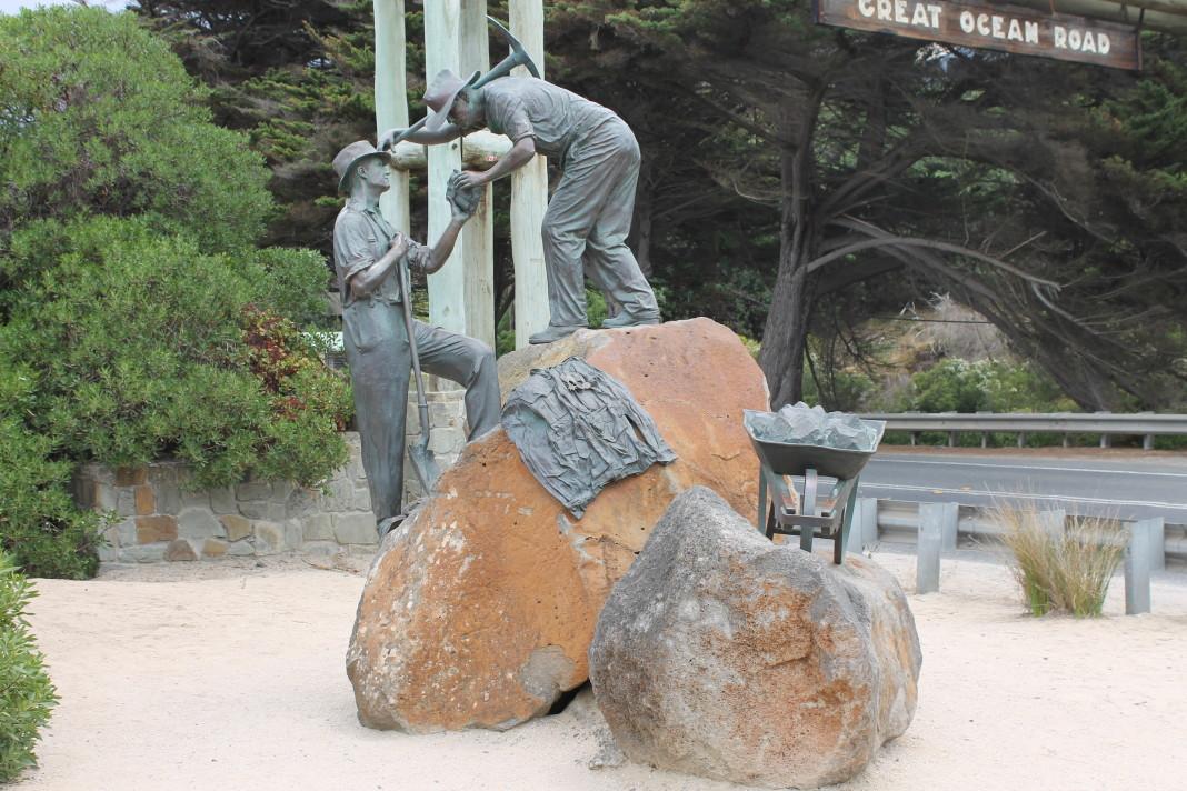 Gravers van de Great Ocean Road