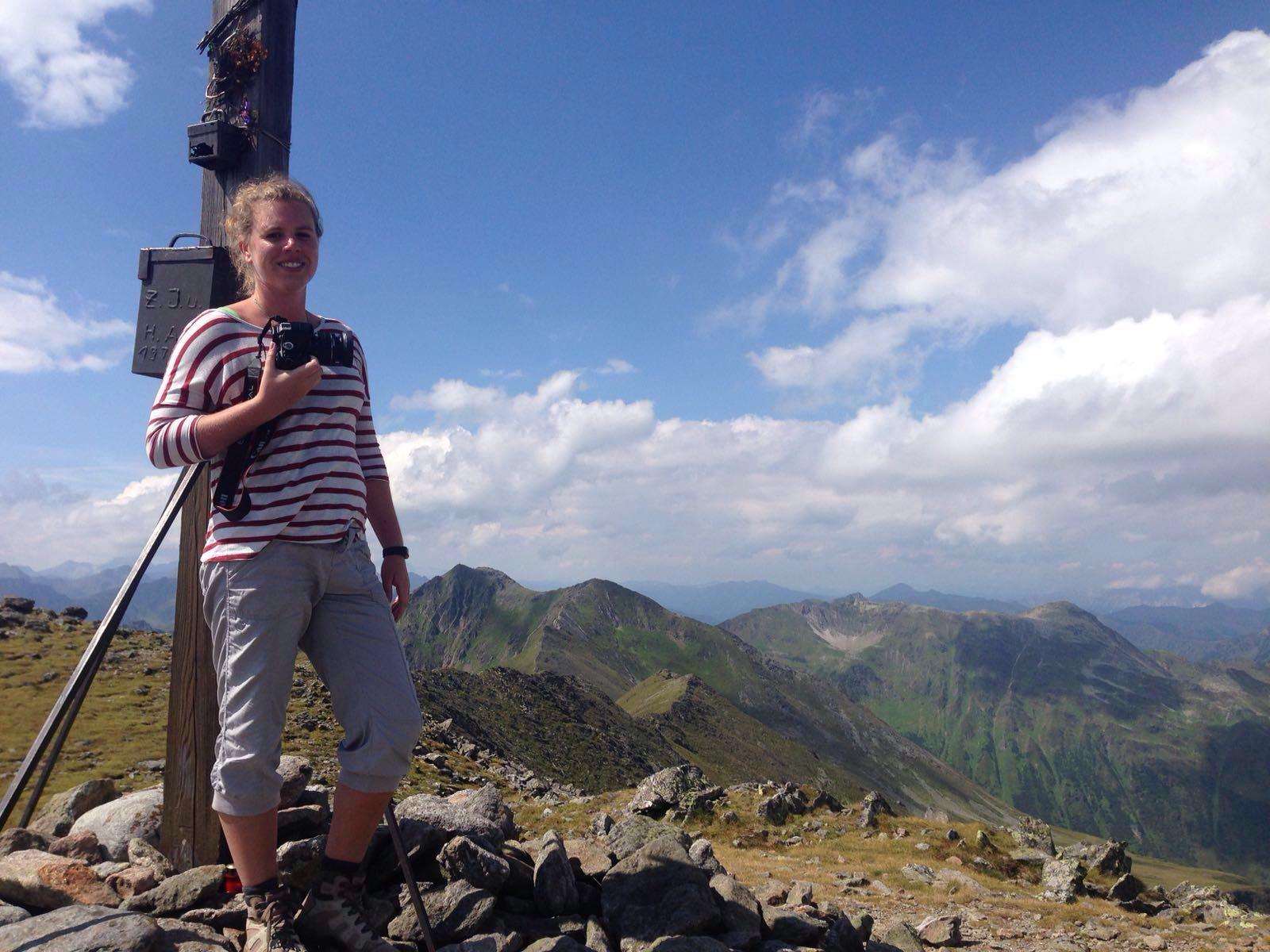 Op de top van de Greim op 2474m