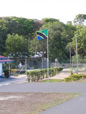 Vliegveld op Mafia Island
