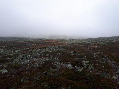 We konden niet erg ver kijken door de mist
