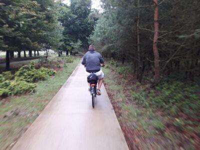 Met de elektrische fiets ga je redelijk snel