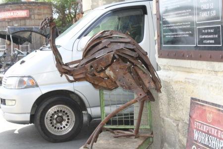 Cassowary bij Steampunk
