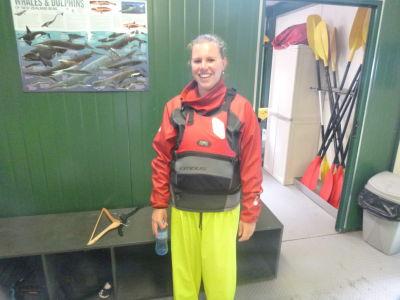 Charmante maar warme en droge kayak kleding