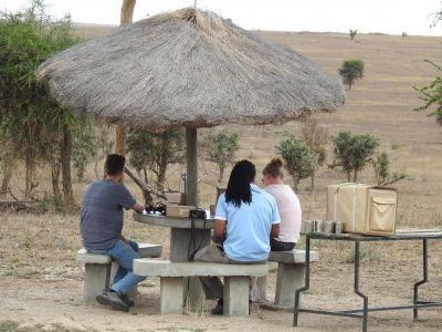 Lunchen op de Serengeti