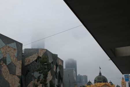 Eureka Skydeck in de wolken