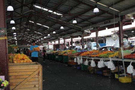 Fruitafdeling op de Queen Victoria Market