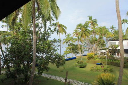 Uitzicht vanaf ons balkon