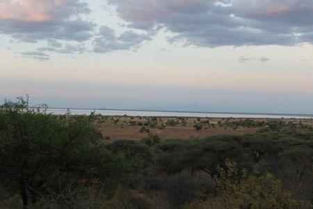 Uitzicht op Lake Burunge