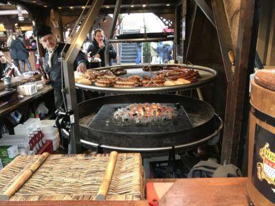 Bratwurst van de barbecue