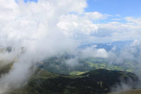 wandelen in de wolken