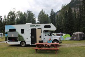 Kicking Horse campsite