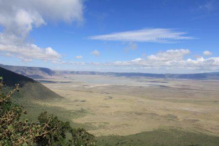 Viewpoint vanaf de kraterrand