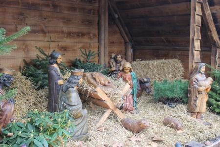 Kerststal bij de Neumarkt