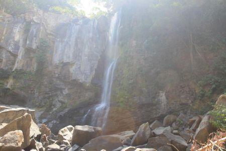 Bovenste deel van de Nauyaca Falls