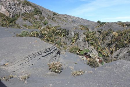 Het landschap rondom de vulkaan