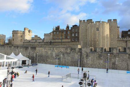 Ijsbaan bij The Tower of London