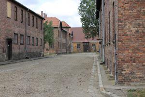 Rijen barakken Auschwitz