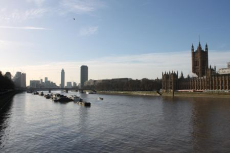 De Theems vanaf de Westminster Bridge