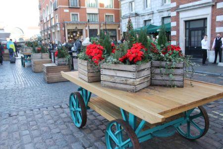 Kerstster bij Covent Garden