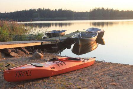 Bootjes bij Urshult Camping