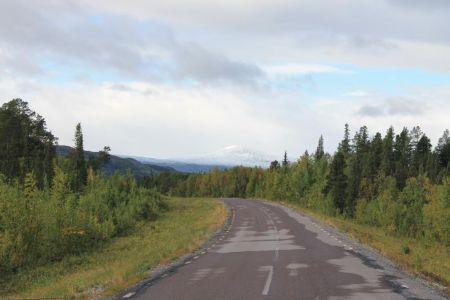 Het is een mooie route naar Stora Sjöfallet