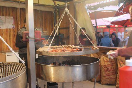 Bratwurst van de grill