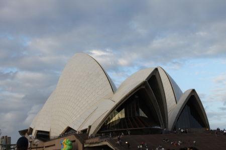 De voorkant van het Opera House