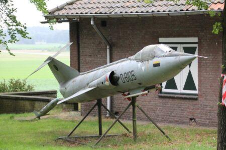 Een van de vliegtuigen van het museum