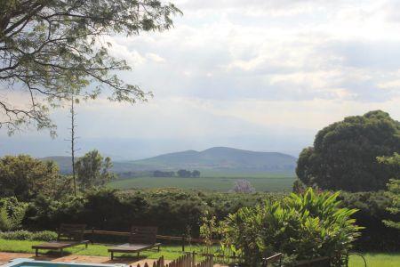 Uitzicht op Mount Meru