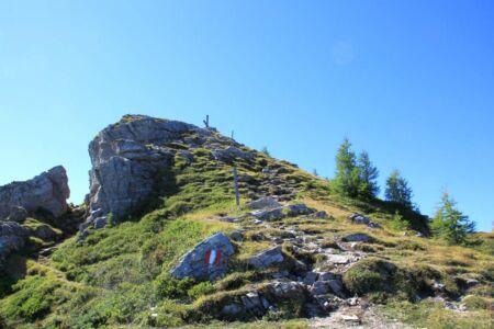 Zie jij het Gipfelkreuz op de top