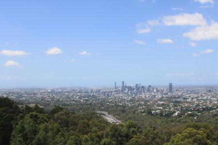 Brisbane vanaf Mount Coot-Tha Lookout
