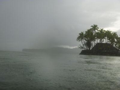 Ook op Fiji regent het