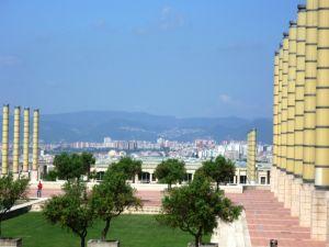 Olympisch stadion met uitzicht over Barcelona