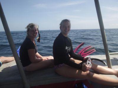Klaar voor het zwemmen met walvishaaien