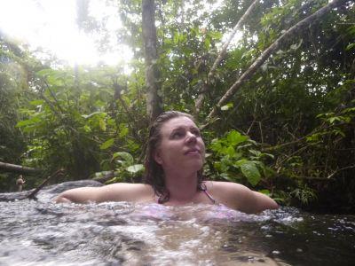 Ontspannen in het warme water