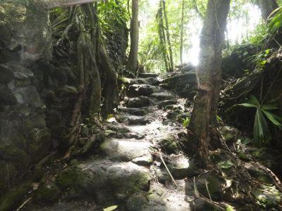 Het 'trappetje' naar Rio Chollin