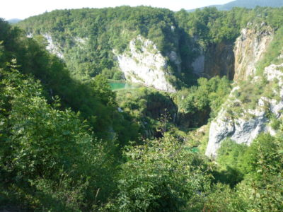 De Plitvice Meren liggen in het bos