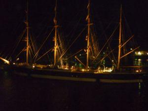 Verlicht bootje