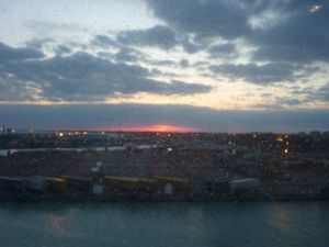 Uitzicht vanaf de ferry