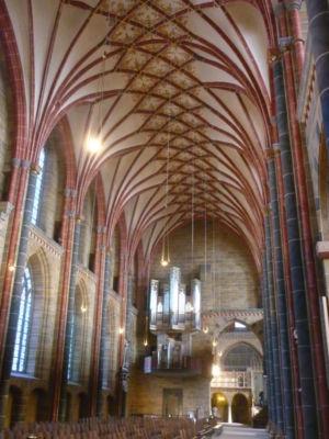 Plafond in de Onze-Lieve-Vrouwekerk