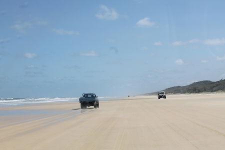Rijden op 75 Mile Beach