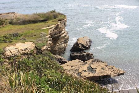 Rotsformaties langs de westkust