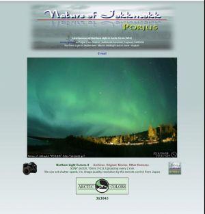 Het noorderlicht op de webcam 45 km verderop in Porjus