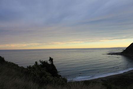 Uitzicht vanaf Okiwi Bay Lookout