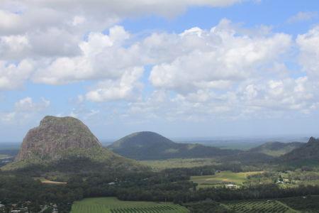 Uitzicht vanaf de top van Mount Ngungun