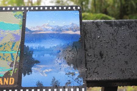 Zo zou het uitzicht bij Lake Matheson kunnen zijn.....