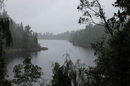....zo was ons uitzicht bij Lake Matheson